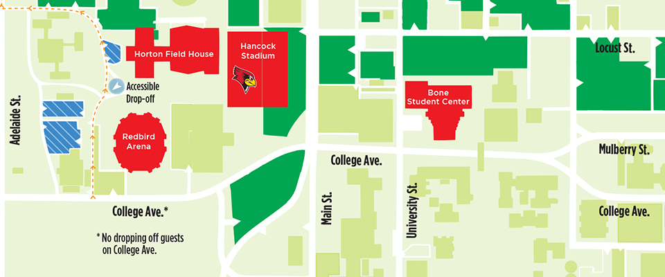 Overhead map of campus